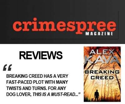 CrimeSpree Magazine Reviews Alex Kava's BREAKING CREED