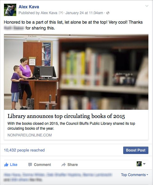 Library Top Circulating Books 2015 | Alex Kava | Ryder Creed Series