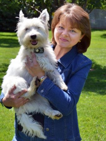 Author Alex Kava & her westie Maggie O'Dell | Ryder Creed series