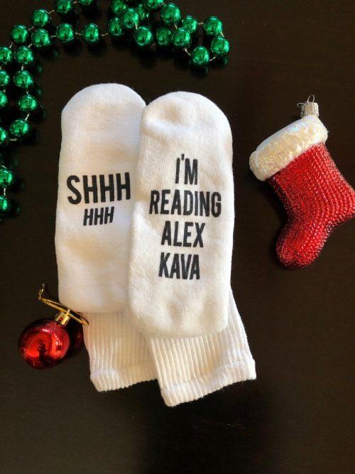 Alex Kava Book Reading Socks