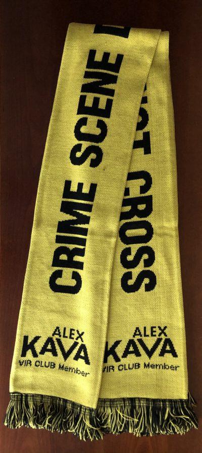 VIR Crime Scene Scarf   Alex Kava